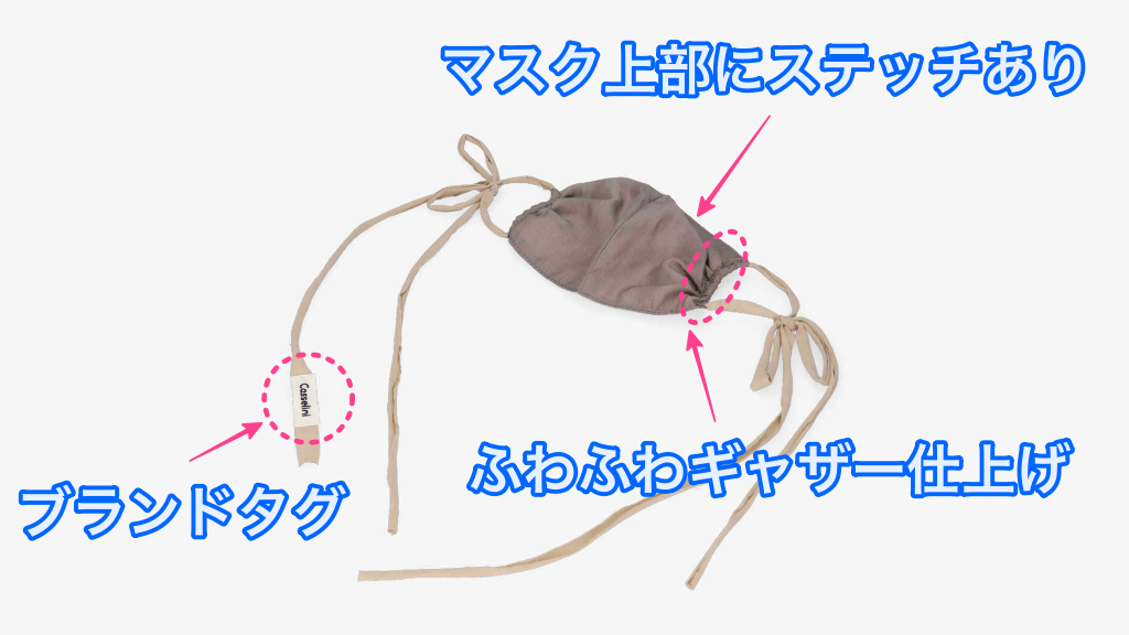 本田翼さん愛用のCASSELINIのギャザーマスクの特徴