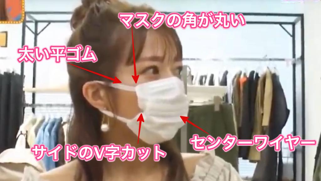 辻希美着用の不織布マスク