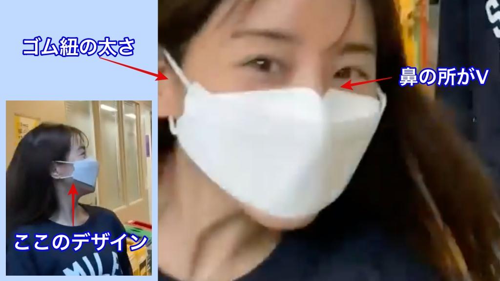 田中みな実着用のKF94マスクの特徴