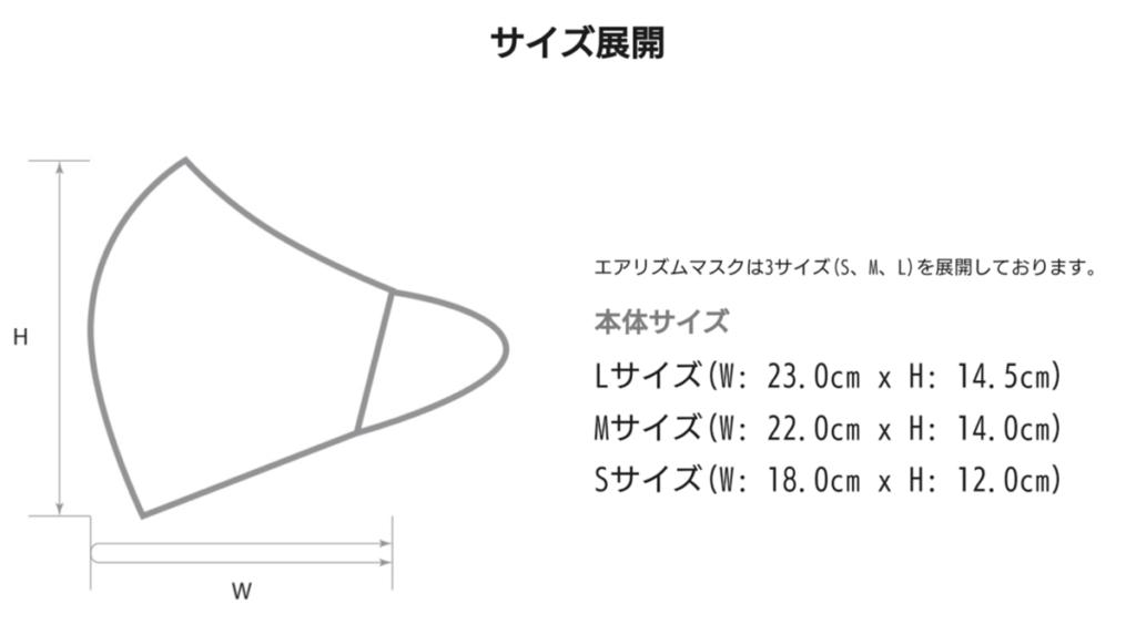 ユニクロ エアリズムマスク サイズ表
