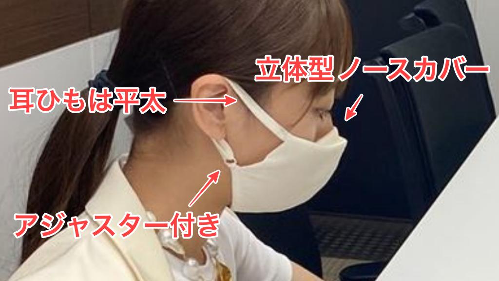 近藤千尋さんのrecaマスク着用画像