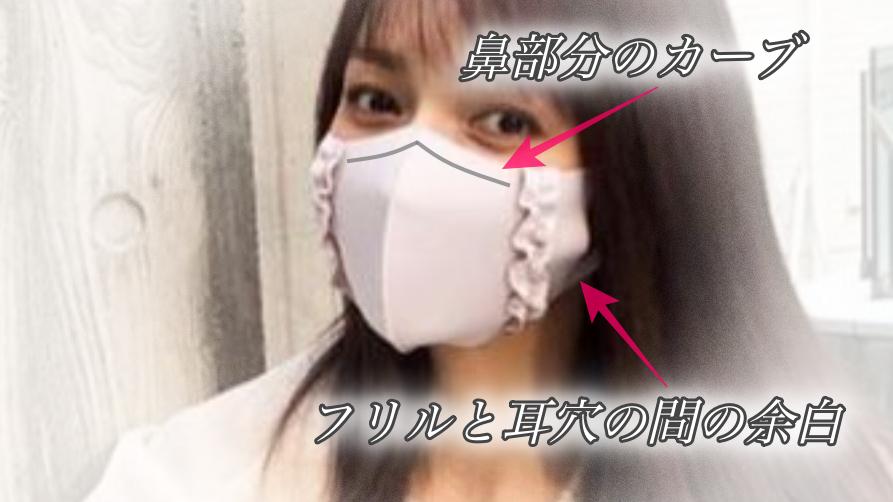 後藤真希着用マスク フリルマスクの特徴