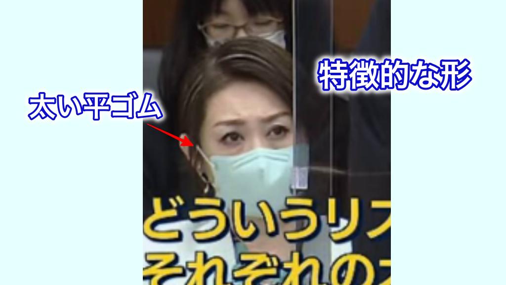 三原じゅん子厚労副大臣着用マスクの特徴