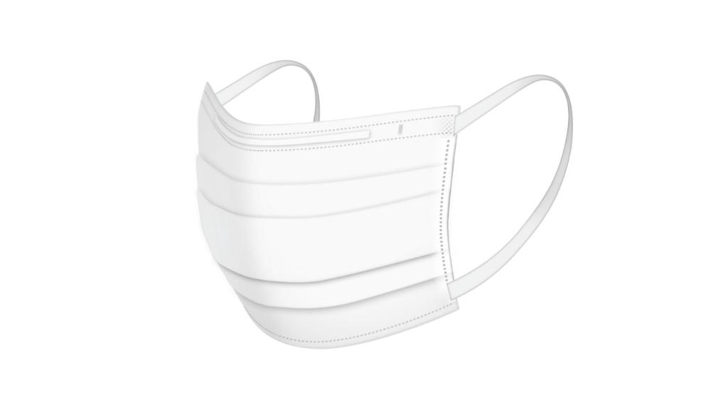 西村大臣着用の医食同源立体型不織布マスク公式画像