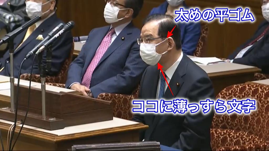 志位和夫委員長着用マスクの特徴