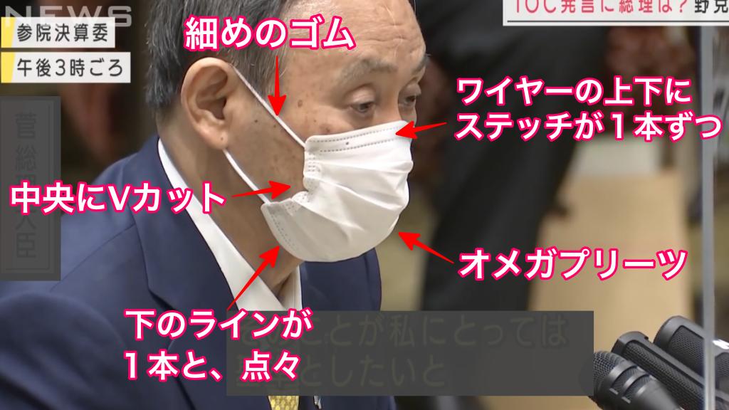 菅総理着用マスクの特徴