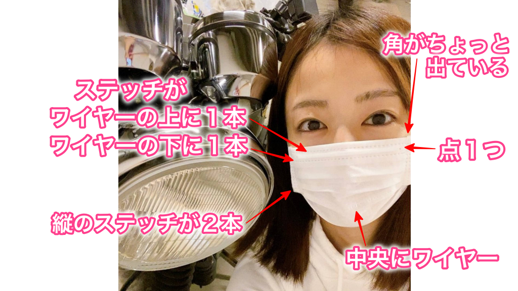 滝菜月着用不織布マスクの特徴