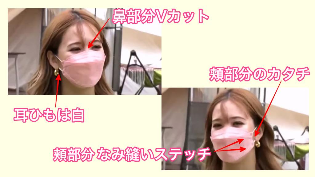 藤田ニコル着用ピンクのKF94マスク