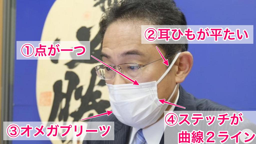 岸田文雄前政調会長の着用マスクの特徴