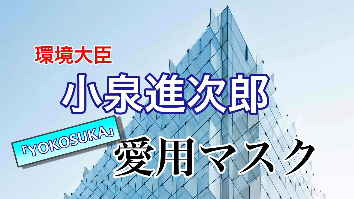 小泉進次郎環境大臣の「横須賀マスク」はどこで買える?