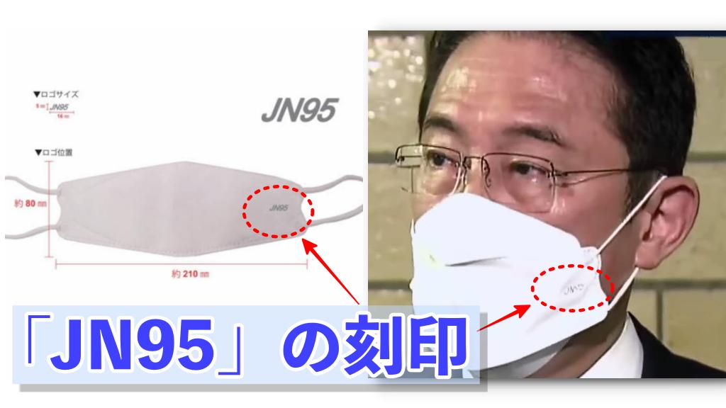 岸田文雄前政調会長が着用しているJN95マスクの特徴